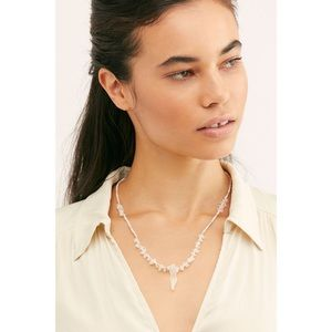 NEW Free People Crystal Love Rose Quartz Necklace